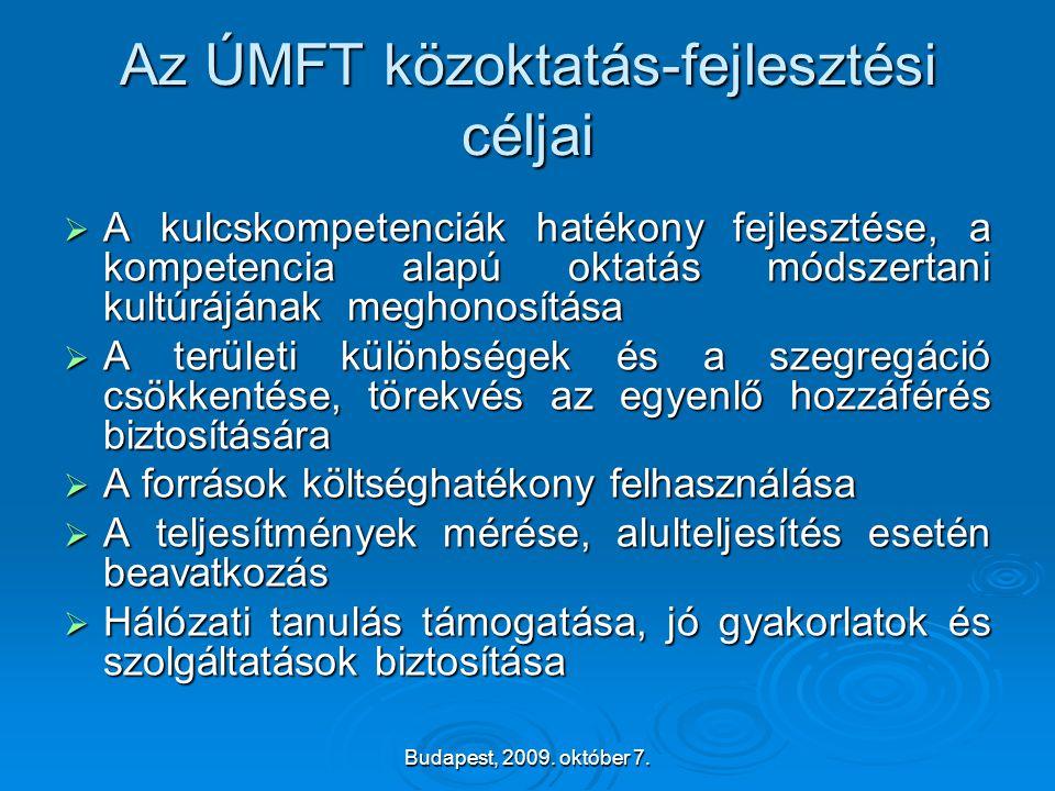 Az ÚMFT közoktatás-fejlesztési céljai