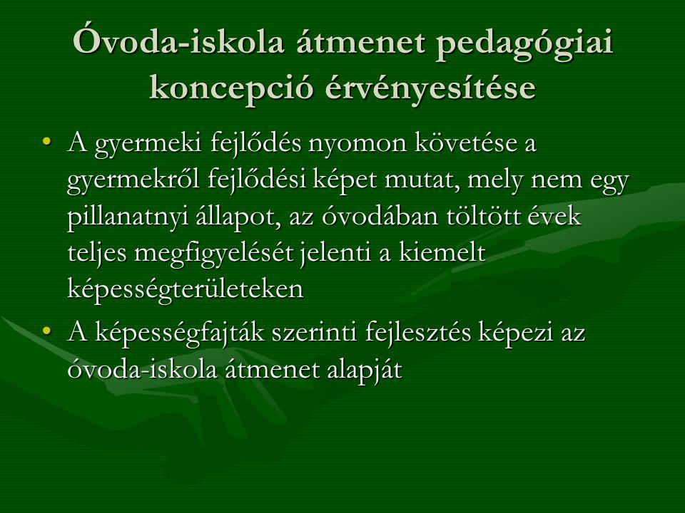 Óvoda-iskola átmenet pedagógiai koncepció érvényesítése