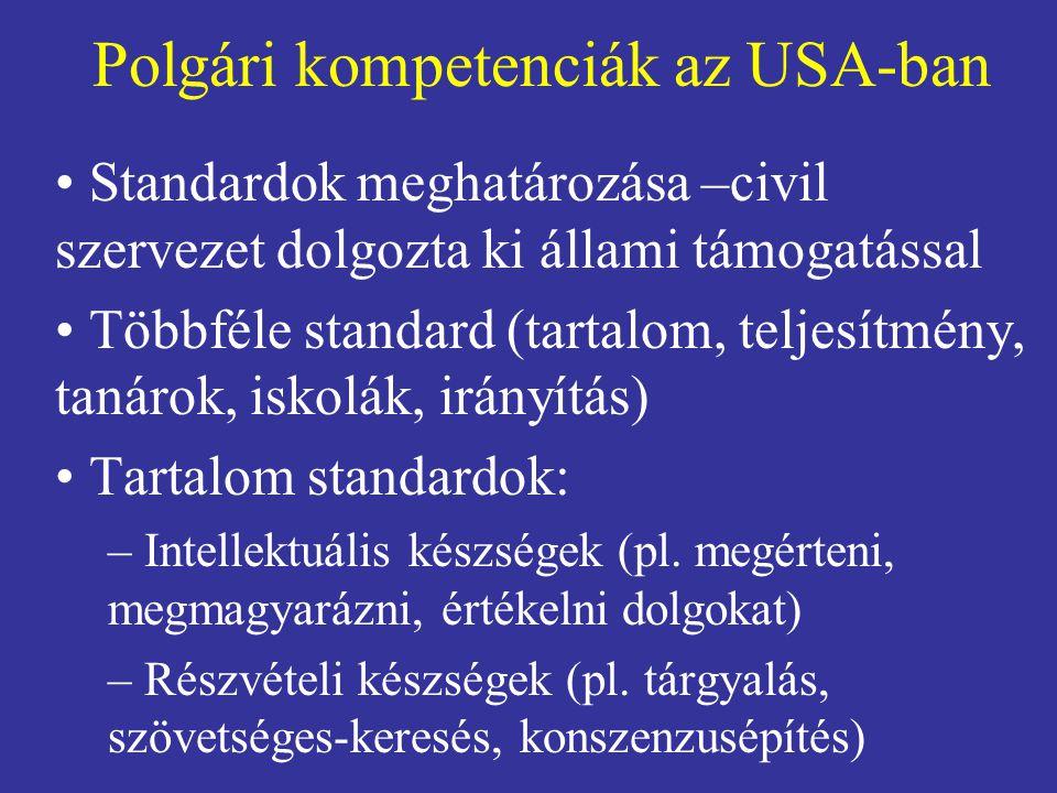 Polgári kompetenciák az USA-ban