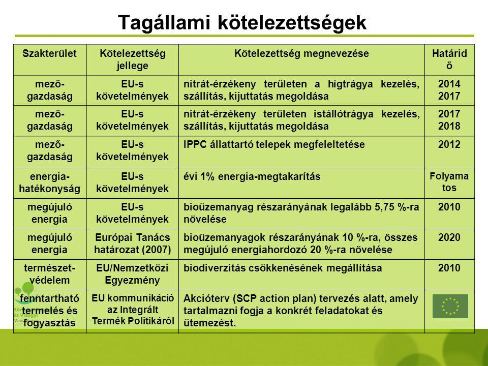 Tagállami kötelezettségek