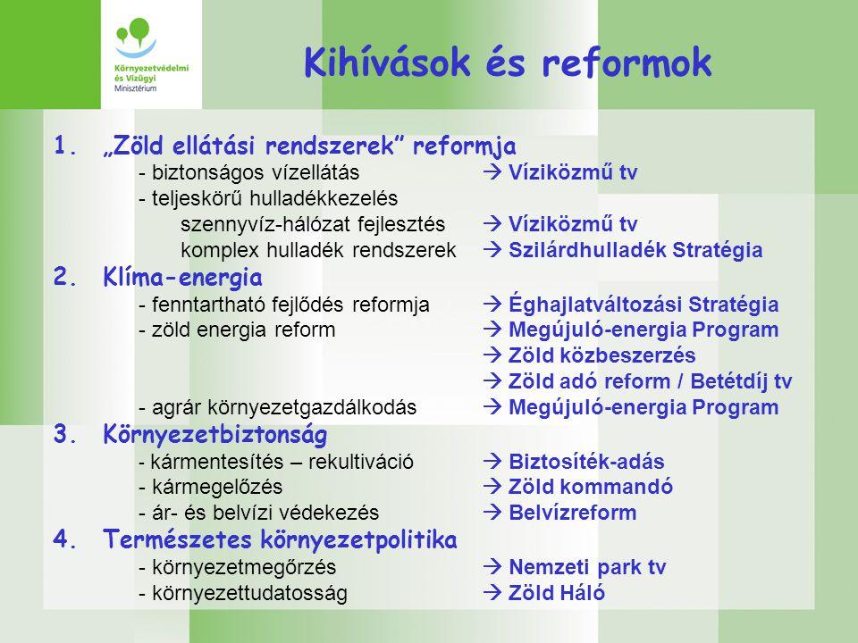"""Kihívások és reformok 1. """"Zöld ellátási rendszerek reformja"""