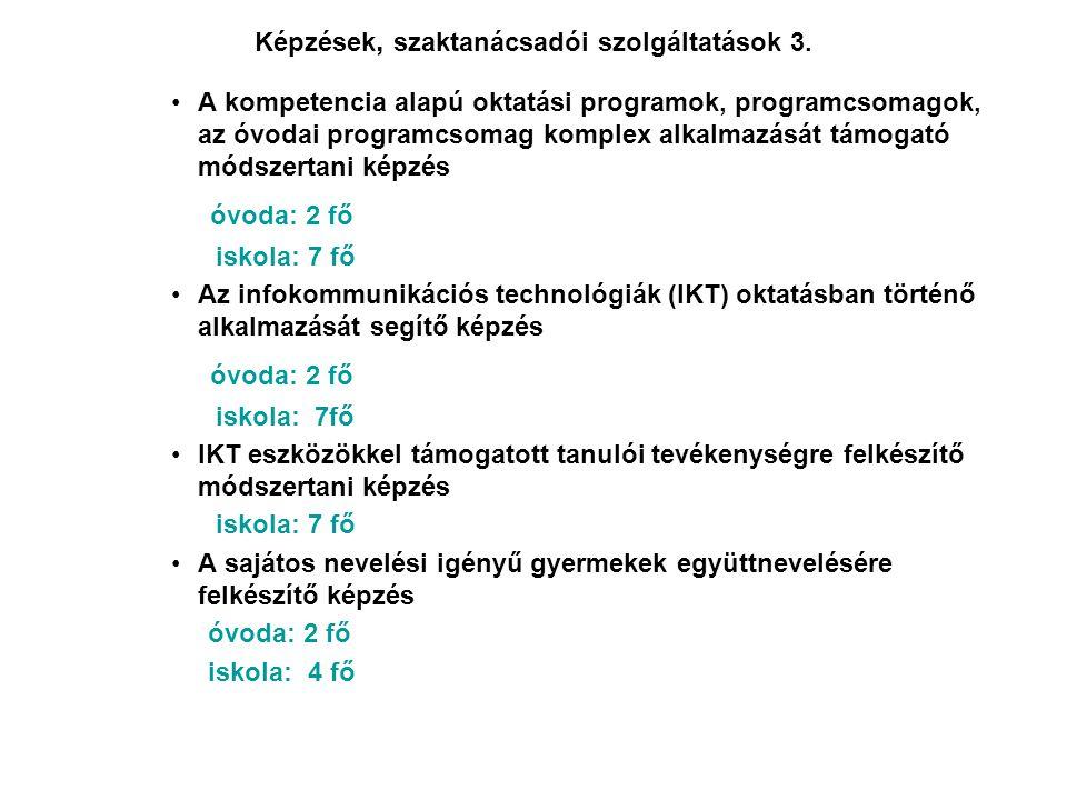 Képzések, szaktanácsadói szolgáltatások 3.