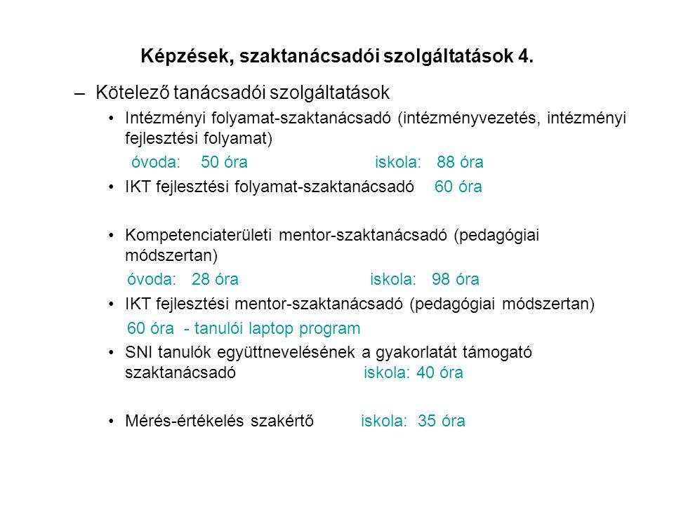 Képzések, szaktanácsadói szolgáltatások 4.