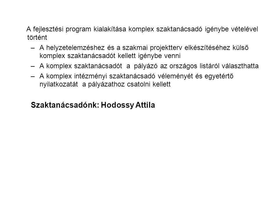 Szaktanácsadónk: Hodossy Attila
