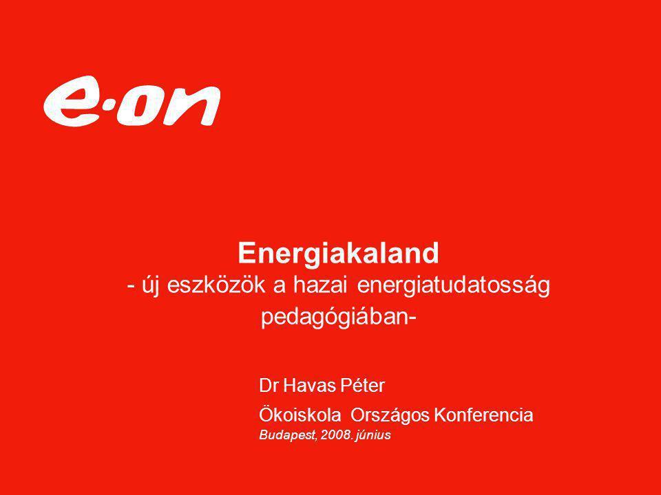 Energiakaland - új eszközök a hazai energiatudatosság pedagógiában-