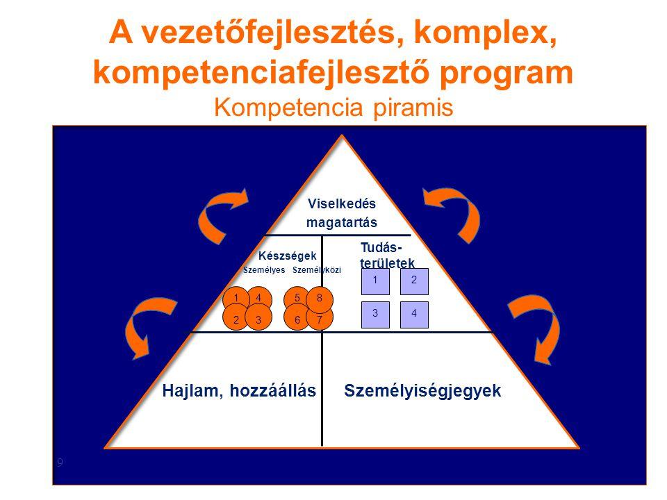 A vezetőfejlesztés, komplex, kompetenciafejlesztő program