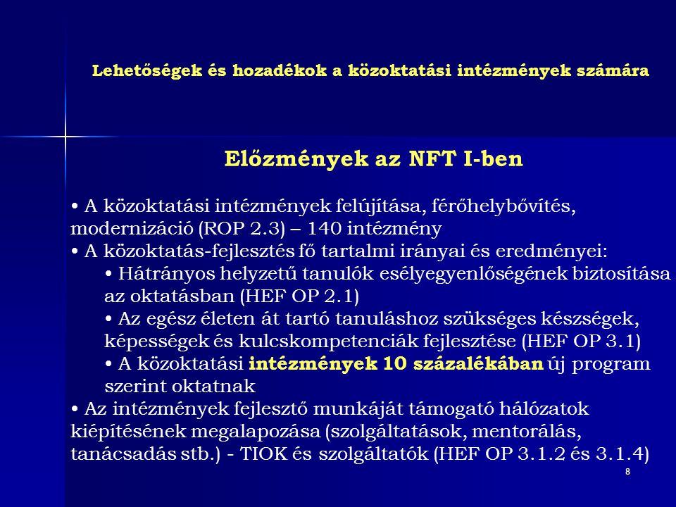 Előzmények az NFT I-ben