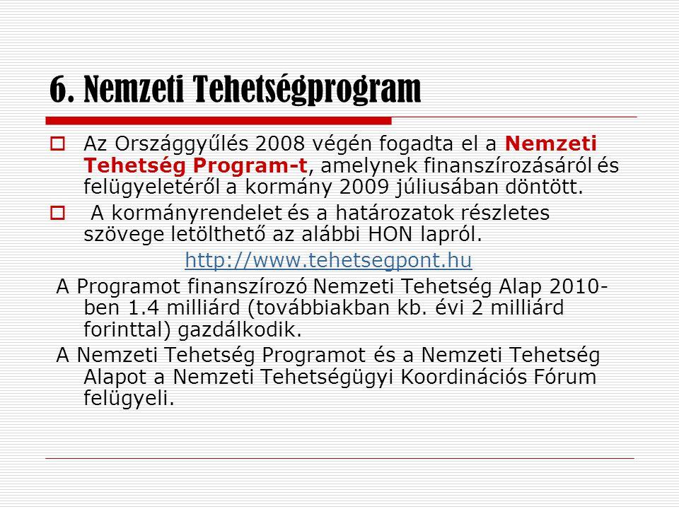 6. Nemzeti Tehetségprogram