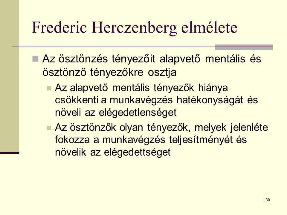 Frederic Herczenberg elmélete
