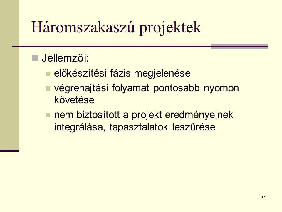 Háromszakaszú projektek