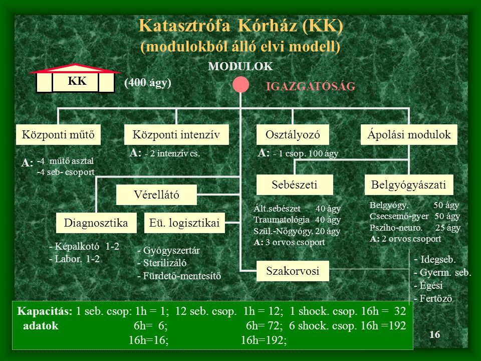 Katasztrófa Kórház (KK) (modulokból álló elvi modell)