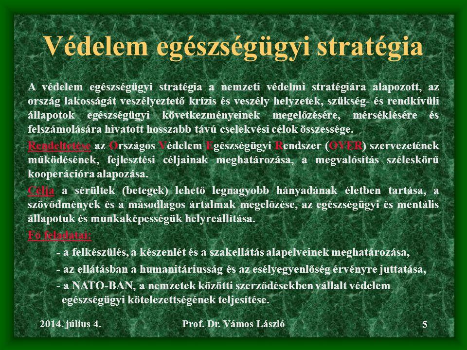 Védelem egészségügyi stratégia