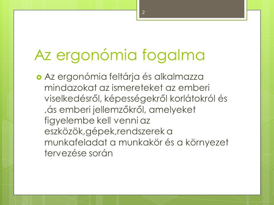 Az ergonómia fogalma