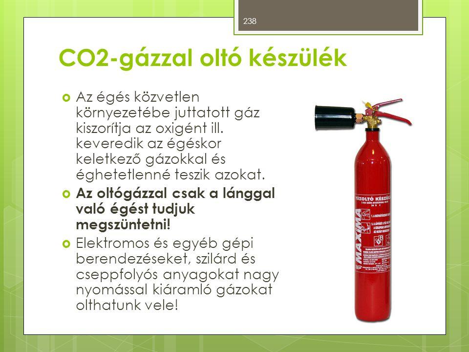 CO2-gázzal oltó készülék