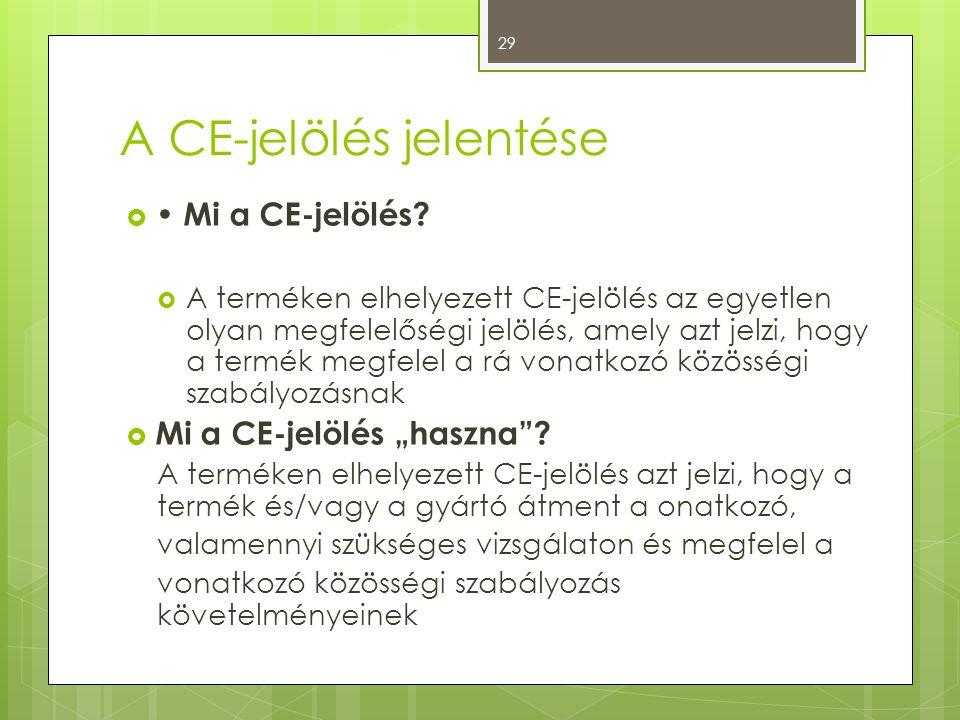 A CE-jelölés jelentése
