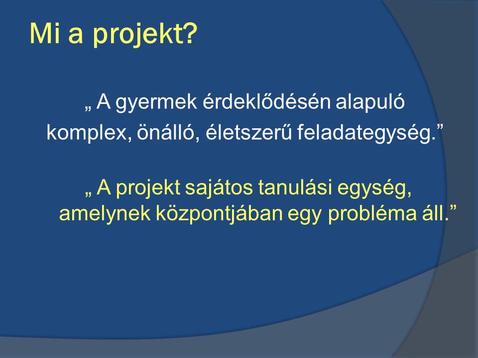 """Mi a projekt """" A gyermek érdeklődésén alapuló"""