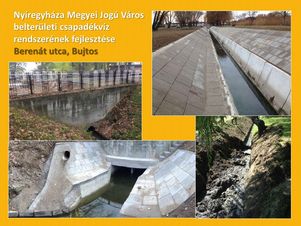 Nyíregyháza Megyei Jogú Város belterületi csapadékvíz rendszerének fejlesztése