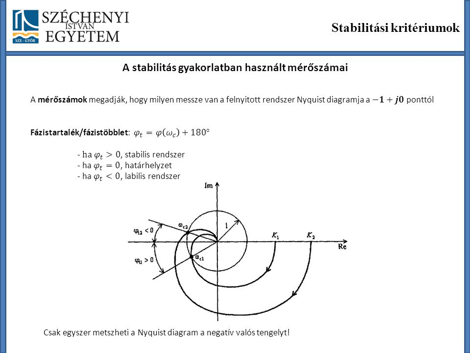 A stabilitás gyakorlatban használt mérőszámai