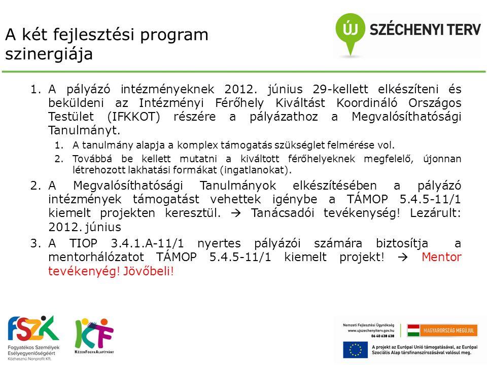 A két fejlesztési program szinergiája