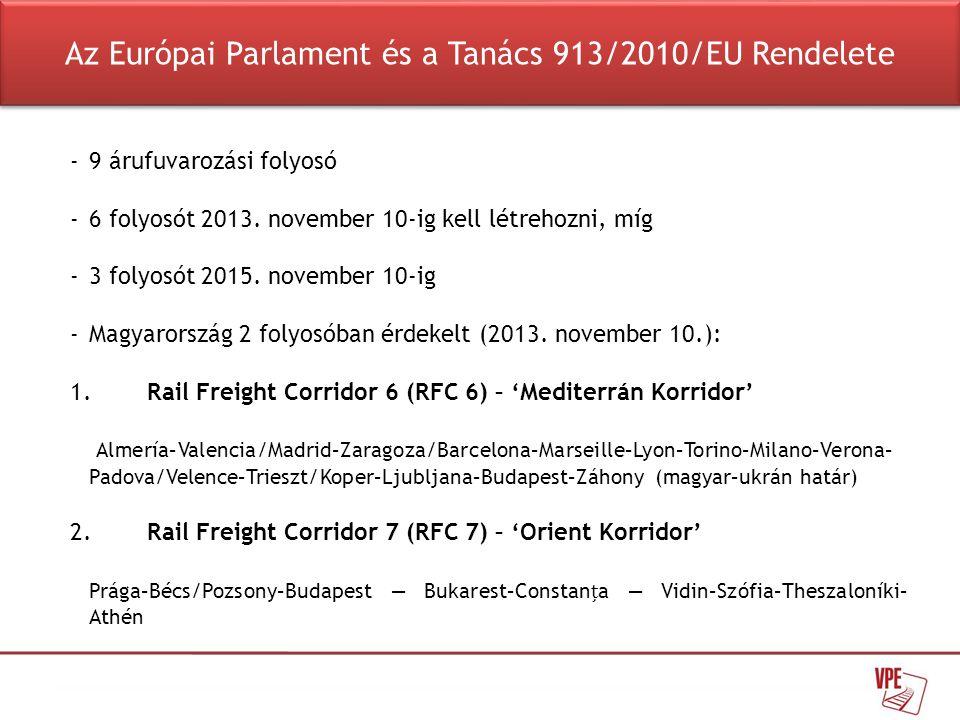 Az Európai Parlament és a Tanács 913/2010/EU Rendelete