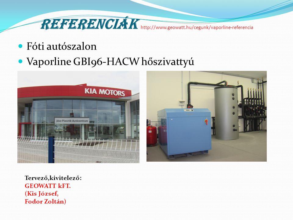 Referenciák http://www.geowatt.hu/cegunk/vaporline-referencia