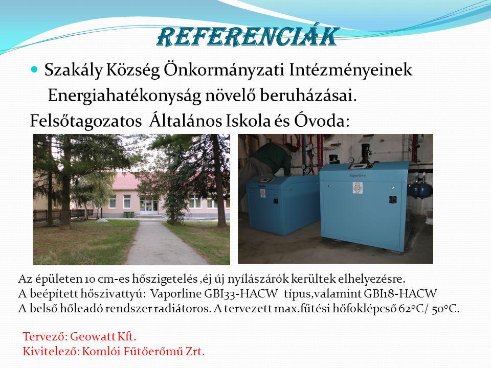 Referenciák Szakály Község Önkormányzati Intézményeinek