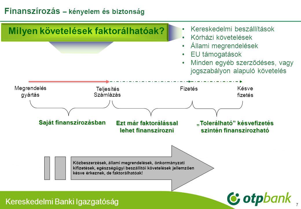 Finanszírozás – kényelem és biztonság
