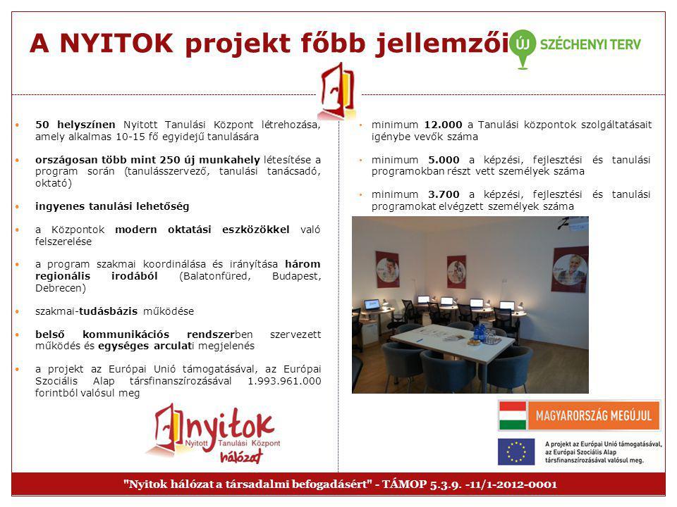 A NYITOK projekt főbb jellemzői