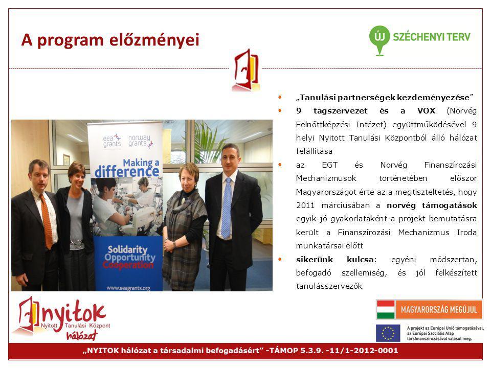 """A program előzményei """"Tanulási partnerségek kezdeményezése"""