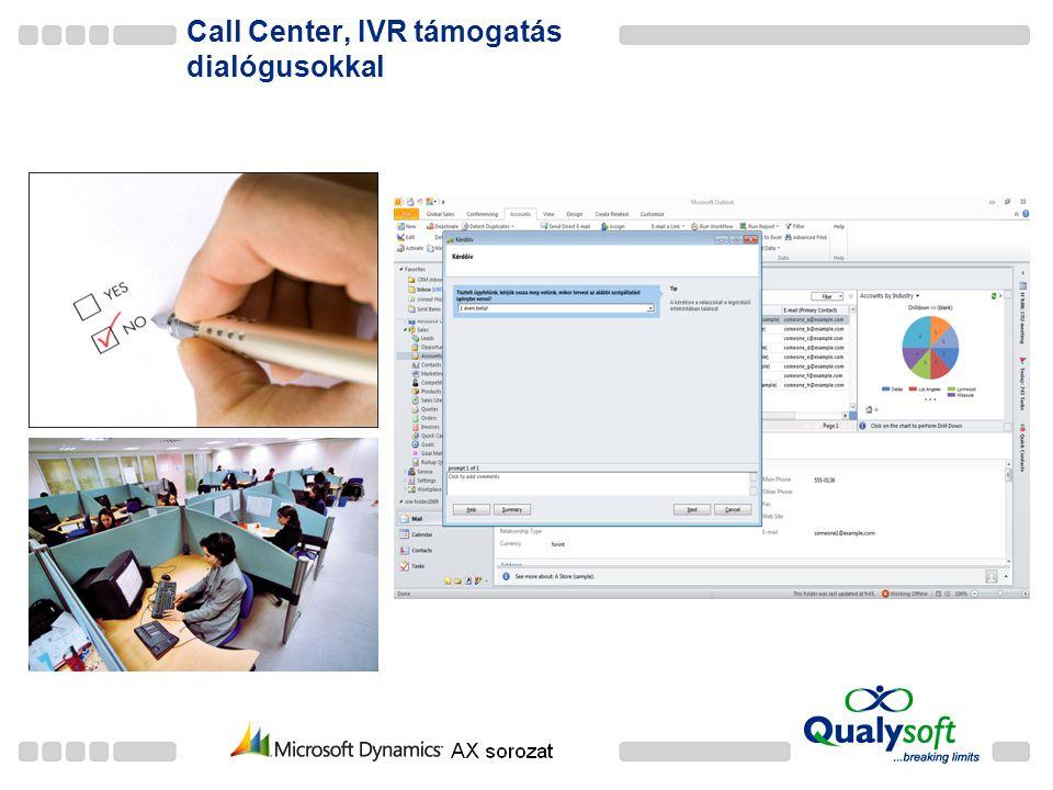 Call Center, IVR támogatás dialógusokkal