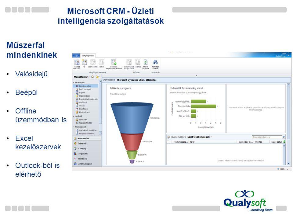 Microsoft CRM - Üzleti intelligencia szolgáltatások
