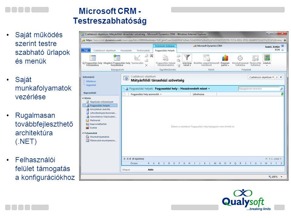 Microsoft CRM - Testreszabhatóság