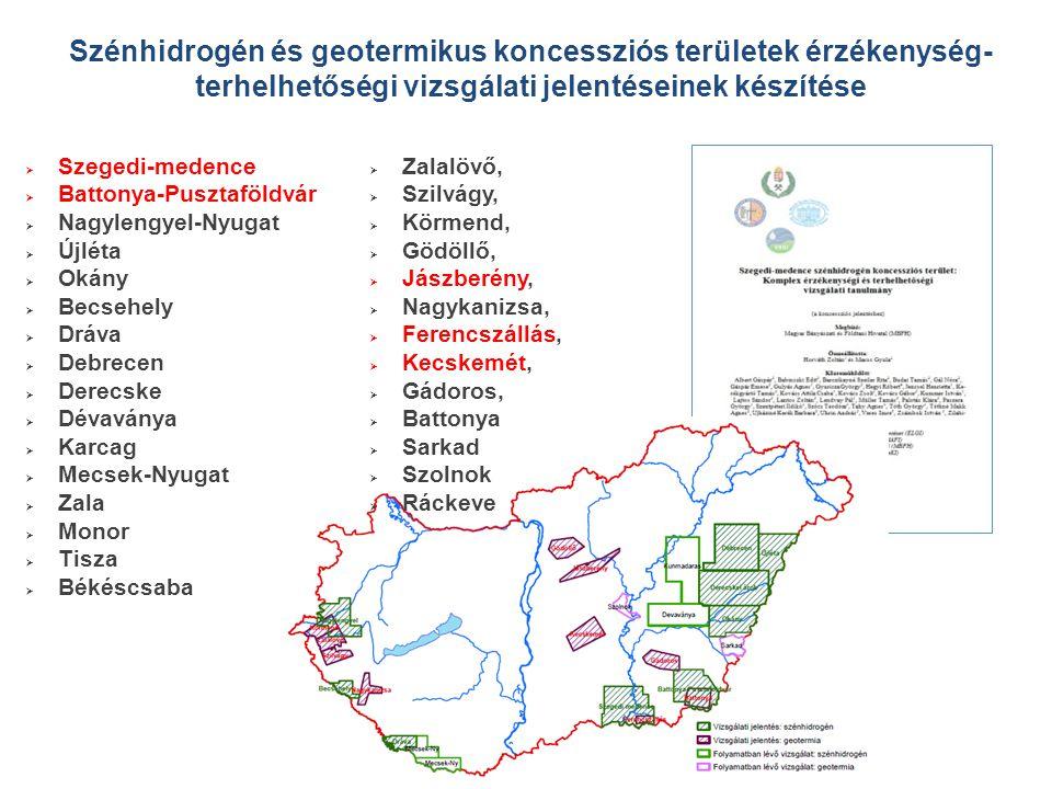 Szénhidrogén és geotermikus koncessziós területek érzékenység-terhelhetőségi vizsgálati jelentéseinek készítése
