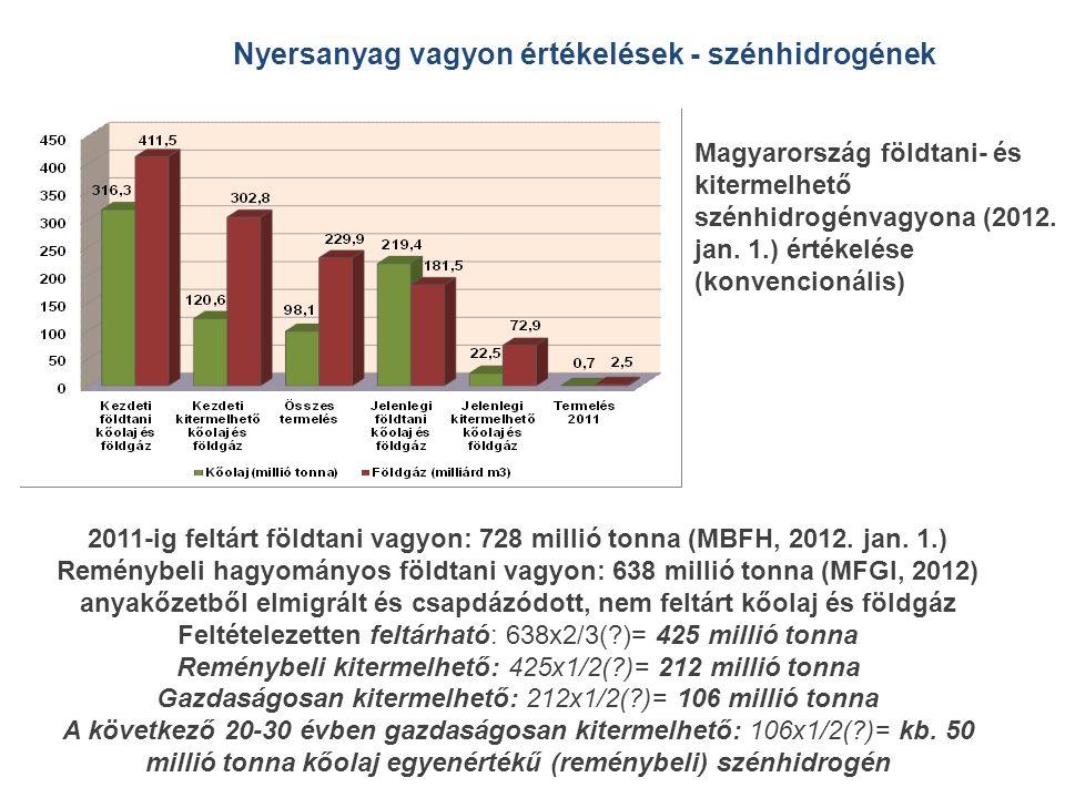 Nyersanyag vagyon értékelések - szénhidrogének