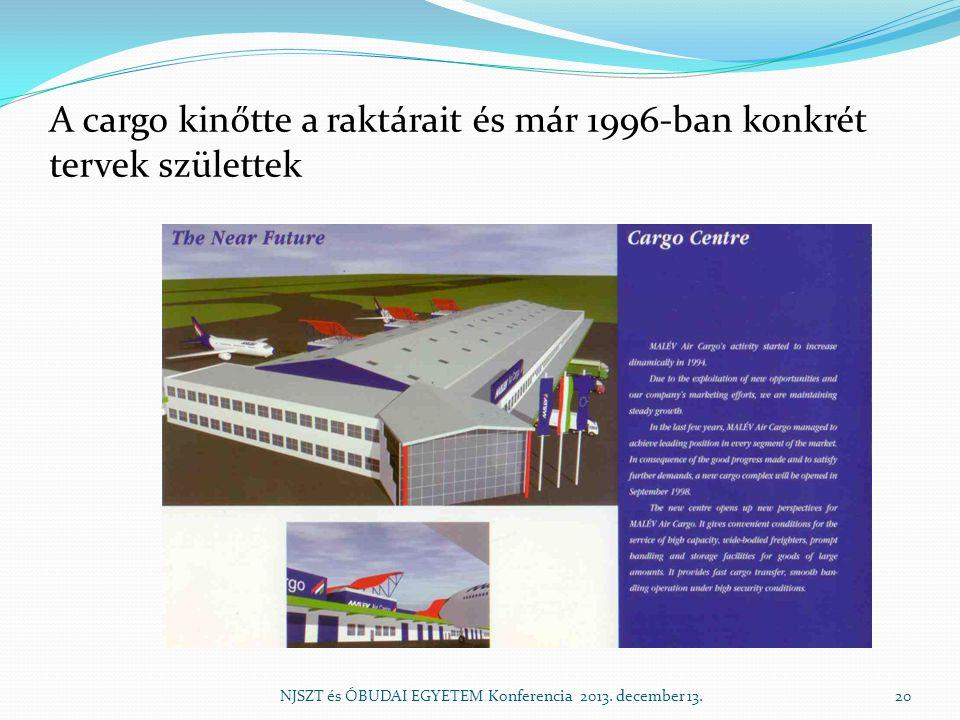 A cargo kinőtte a raktárait és már 1996-ban konkrét tervek születtek