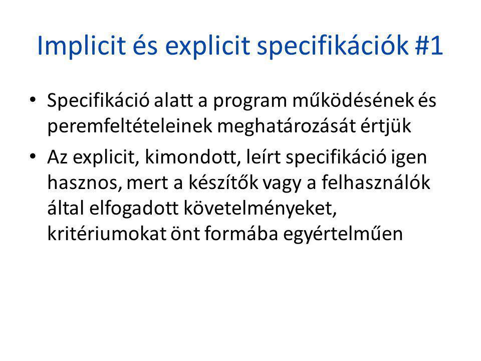 Implicit és explicit specifikációk #1