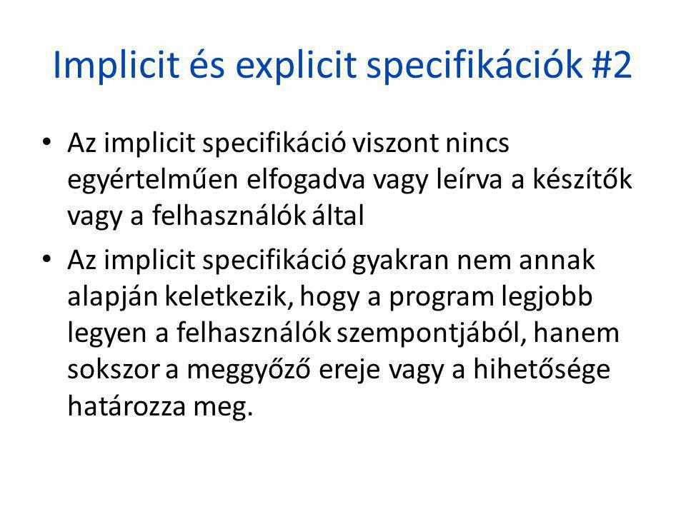 Implicit és explicit specifikációk #2