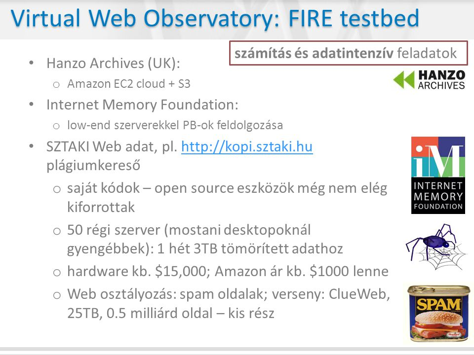 Virtual Web Observatory: FIRE testbed