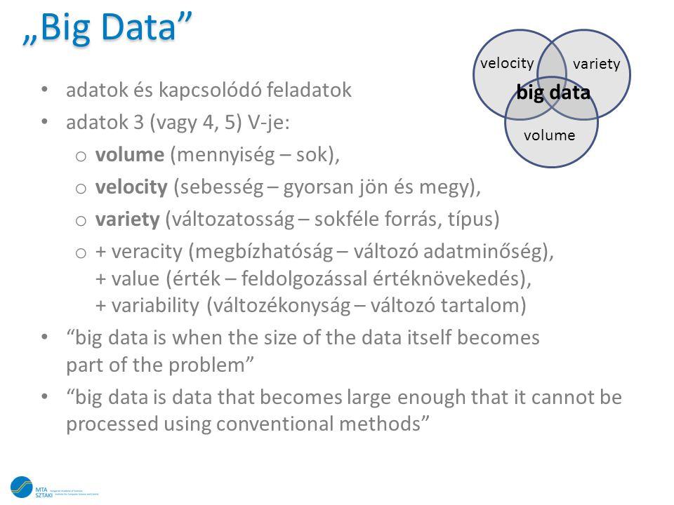 """""""Big Data adatok és kapcsolódó feladatok big data"""