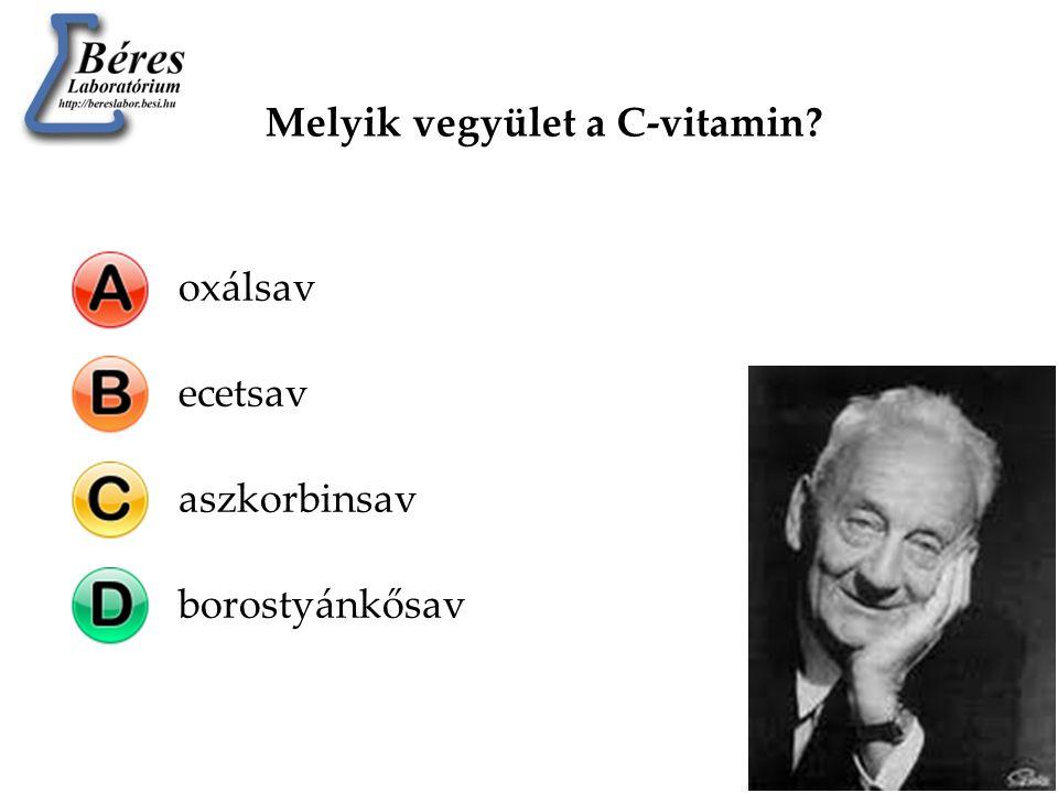 Melyik vegyület a C-vitamin