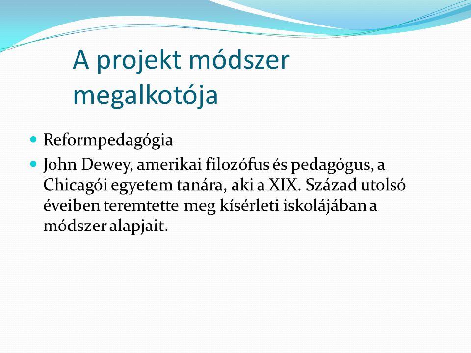 A projekt módszer megalkotója