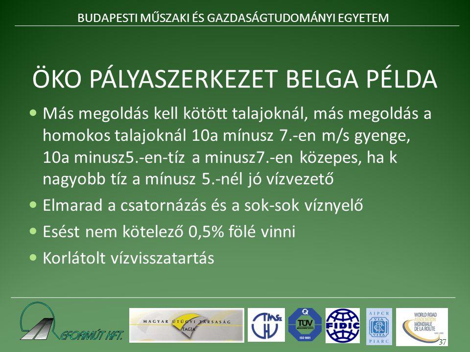 ÖKO PÁLYASZERKEZET BELGA PÉLDA