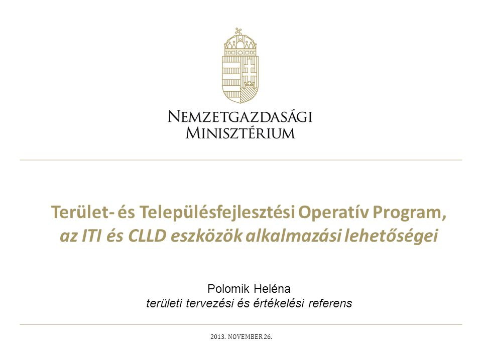 Polomik Heléna területi tervezési és értékelési referens