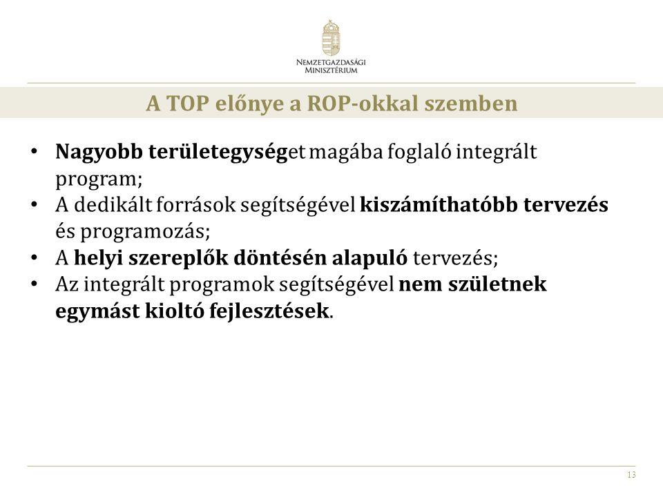 A TOP előnye a ROP-okkal szemben