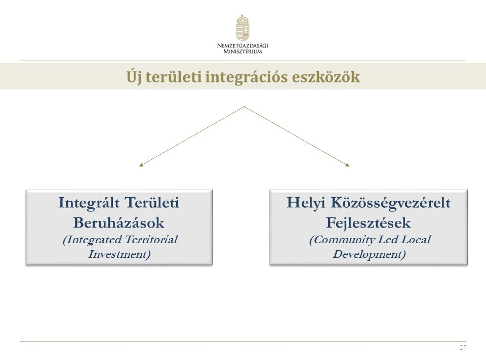 Új területi integrációs eszközök