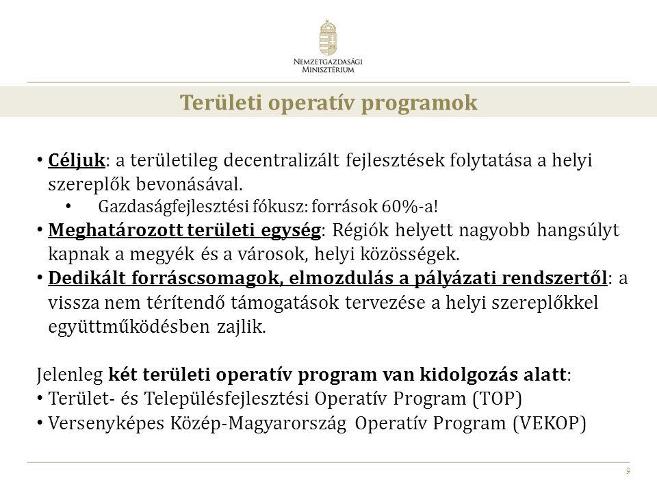 Területi operatív programok