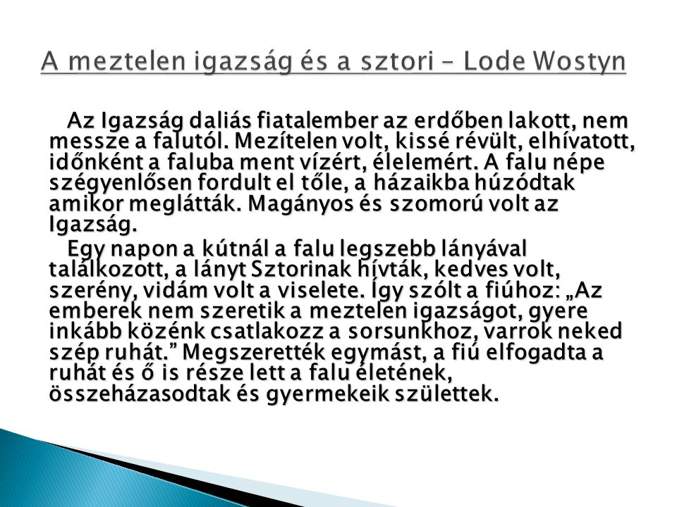 A meztelen igazság és a sztori – Lode Wostyn