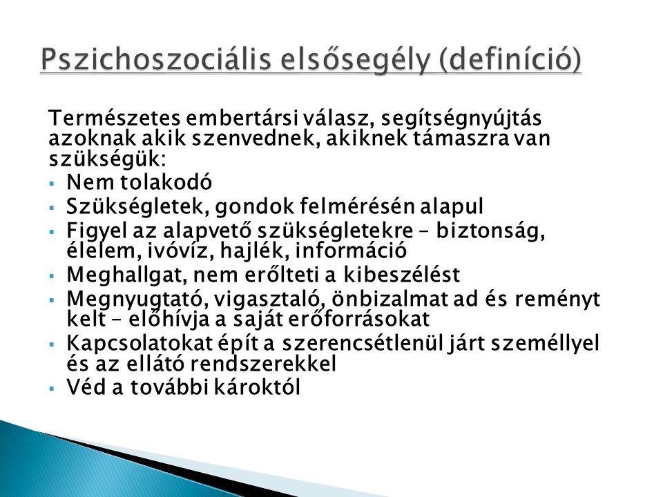 Pszichoszociális elsősegély (definíció)