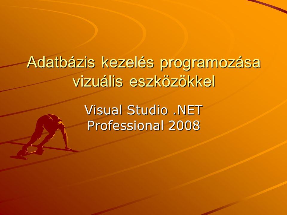 Adatbázis kezelés programozása vizuális eszközökkel