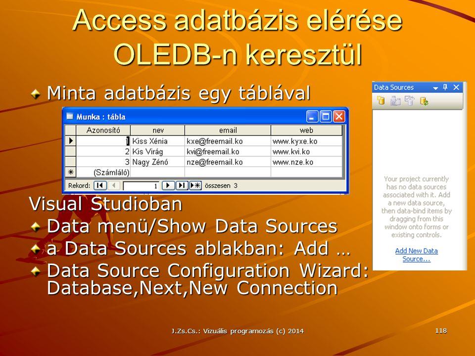 Access adatbázis elérése OLEDB-n keresztül